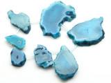 Blue Agate Slab Gemstone Beads 25-61mm (AS957)