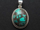 Sterling Silver & Turquoise Pendant 28mm (AP1998)