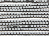 Gunmetal Gray Hematite Square Gemstone Beads 4mm (GS4562)
