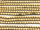 Brass Hematite Square Gemstone Beads 4mm (GS4563)