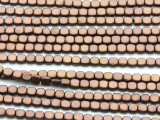 Copper Hematite Square Gemstone Beads 4mm (GS4566)