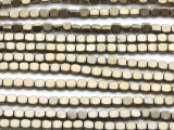 Antique Brass Hematite Square Gemstone Beads 4mm (GS4567)
