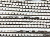 Antique Silver Hematite Square Gemstone Beads 4mm (GS4568)