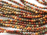 Red Creek Jasper Round Gemstone Beads 4mm (GS4583)