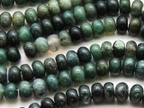 Moss Agate Rondelle Gemstone Beads 10mm (GS4586)
