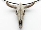 Cow Skull Pendant 67mm - Peru (CER154)