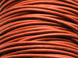 "Metallic Copper Leather Cord 1.5mm - 36"" (LR94)"