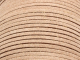 "Tan Suede Leather Lace 2.5mm - 36"" (LR101)"