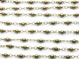 "Antique Brass Plated Ball Link Chain 8mm - 36"" (CHAIN98)"