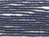 "Dark Blue Glass Beads - 44"" strand (JV9085)"