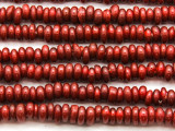 Red Irregular Rondelle Glass Beads 6-8mm (JV1217)