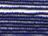 Cobalt Blue Irregular Heishi Glass Beads 3mm (JV1234)
