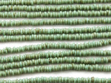 Turquoise Green Irregular Heishi Glass Beads 3mm (JV1235)
