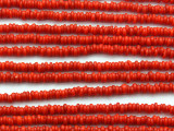 Red Irregular Heishi Glass Beads 3mm (JV1236)