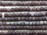 Dark Purple Irregular Cylinder Glass Beads 5-7mm (JV1240)