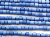 Blue Irregular Cylinder Glass Beads 4-7mm (JV1241)
