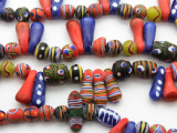 Assorted Painted Glass Beads 7-28mm (JV1259)