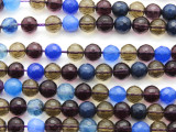 Multi-Color Quartz Faceted Round Gemstone Beads 7-8mm (GS4628)