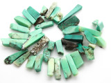Chrysoprase Irregular Stick Gemstone Beads 5-18mm (GS4635)