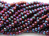 Fuchsia Jeweltone Crystal Glass Beads 8mm (CRY513)