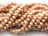 Beige Crystal Glass Beads 8mm (CRY515)