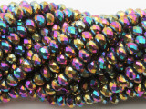 Metallic Jeweltone Crystal Glass Beads 6mm (CRY521)