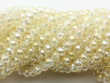 Transparent Ivory Crystal Glass Beads 6mm (CRY522)