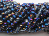 Blue Jeweltone Mix Crystal Glass Beads 6mm (CRY524)