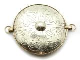 Afghan Tribal Silver Pendant - Amulet 77mm (AF768)