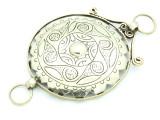 Afghan Tribal Silver Pendant - Amulet 97mm (AF783)
