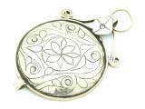 Afghan Tribal Silver Pendant - Amulet 80mm (AF785)