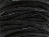 "Black Suede Leather Lace 3mm - 36"" (LR103)"