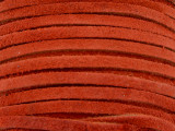 "Red-Orange Suede Leather Lace 3mm - 36"" (LR111)"