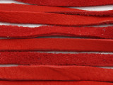 "Red Deerhide Leather Lace 5mm - 72"" (LR125)"