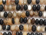 Rondelle Water Buffalo Horn Beads 8-12mm (HN81)