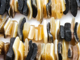 Square Chip Water Buffalo Horn Beads 8-24mm (HN85)