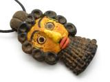 Phoenician Mask Face Pendant 84mm (CB546)
