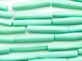 Light Turquoise Tube Bone Beads 35mm (B1346)