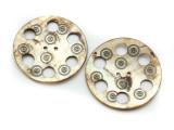 Afghan Carved Shell Button 50mm (AF715)