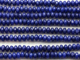 Blue Jade Faceted Rondelle Gemstone Beads 5mm (GS4655)