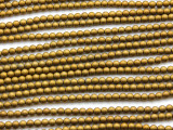 Brass Hematite Round Gemstone Beads 3mm (GS4670)