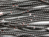 Gunmetal Gray Hematite Round Gemstone Beads 3mm (GS4671)