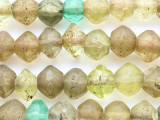 Old Yellow Graduated Faceted Vaseline Beads 8-18mm (AT7204)
