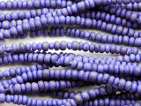 Purple Coconut Wood Rondelle Beads 4mm - Indonesia (WD978)