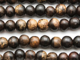 Round Sono Wood Beads 10-14mm - Indonesia (WD986)
