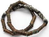 Metal Tube Beads 39-46mm - Nigeria (RF362)