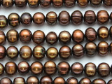 Brown Potato Pearl Beads 8-10mm (PRL204)