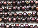 Maroon Potato Pearl Beads 9-11mm (PRL210)