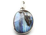 Sterling Silver & Boulder Opal Pendant 32mm (BOP350)