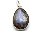 Sterling Silver & Boulder Opal Pendant 34mm (BOP354)